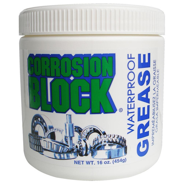 Corrosion Block High Performance Waterproof Grease - 16oz Tub - Non-Hazmat, Non-Flammable & Non-Toxic