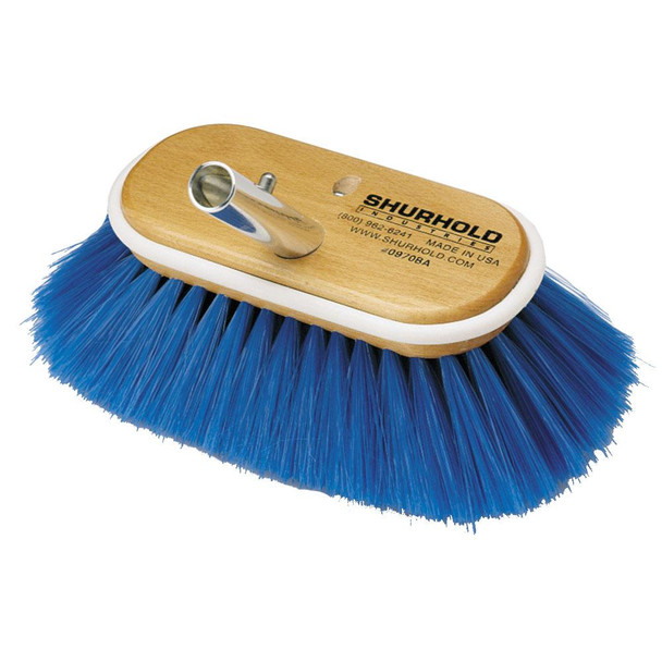"Shurhold 6"" Nylon Extra Soft Bristles Deck Brush"