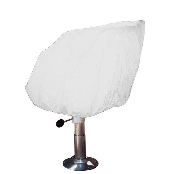 Taylor Made Helm/Bucket/Fixed Back Boat Seat Cover - Vinyl White - 65042