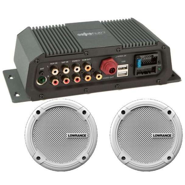 "Lowrance Sonichub Marine Audio Server w/6.5"" Speakers"
