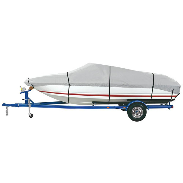 """Dallas Manufacturing Co. Heavy Duty Polyester Boat Cover E 20'-22' V-Hull Runabouts - Beam Width to 100"""" - 36870"""
