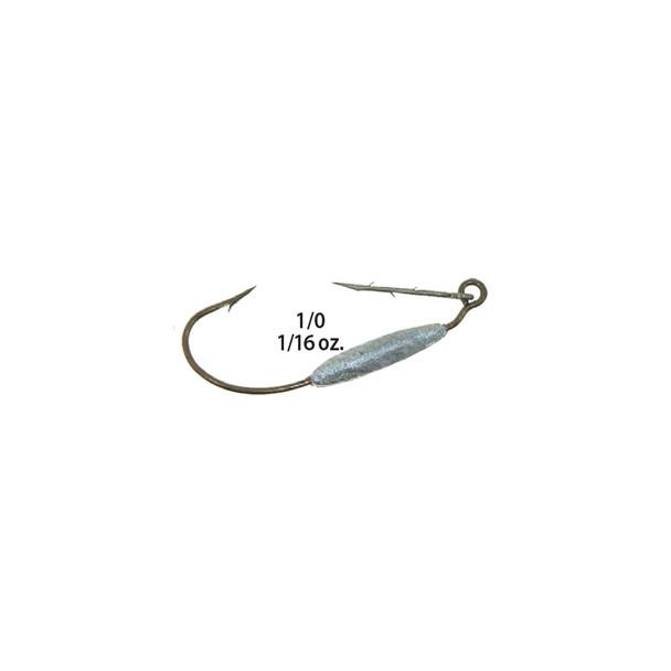 Mister Twister® ™ WKH16-1/0 Weighted Keeper™ Worm Hooks 5pk
