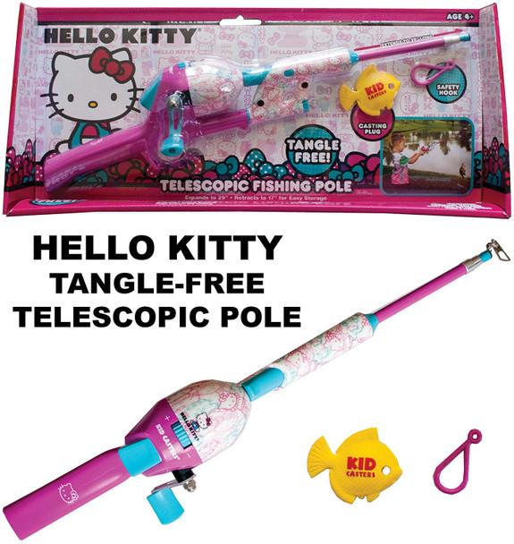 Kid Casters Telescopic Hello Kitty No Tangle Fishing Rod/Reel Combo Toy (HKSNTT15)