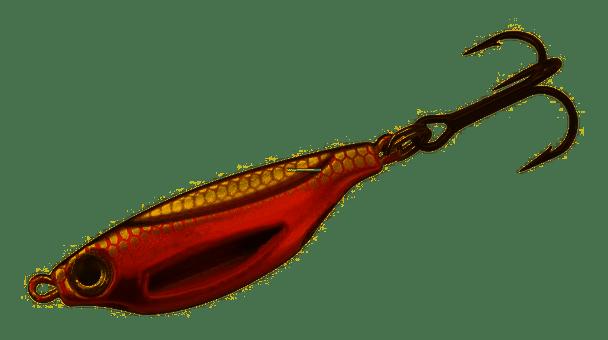 13 Fishing Flash Bang Jigging Rattle Molten Hot Magma- FB-MHM38