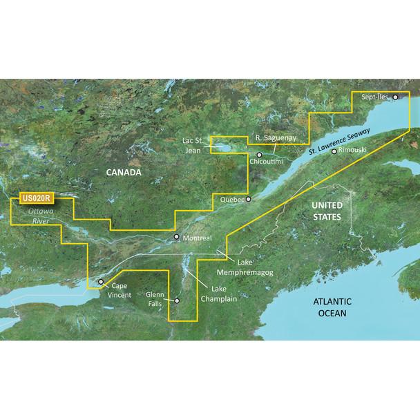 Garmin BlueChart g3 Vision HD - VUS020R - St. Lawrence Seaway - microSD/SD