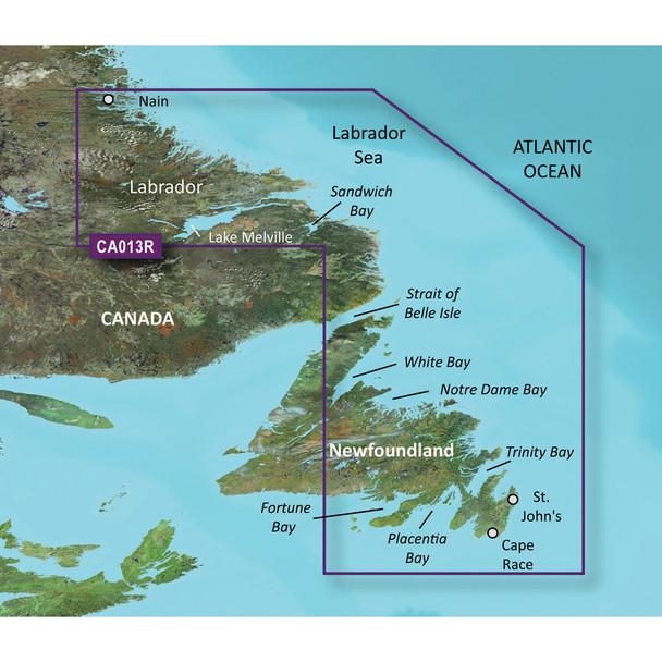 Garmin BlueChart g3 Vision HD - VCA013R - Labrador Coast - microSD/SD
