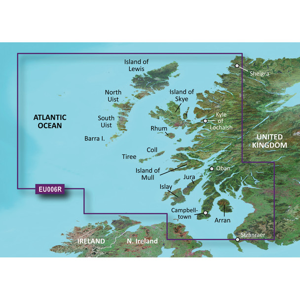 Garmin BlueChart g3 Vision HD - VEU006R - Scotland, West Coast - microSD/SD