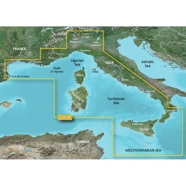 Garmin BlueChart g3 Vision HD - VEU012R - Italy, West Coast - microSD/SD