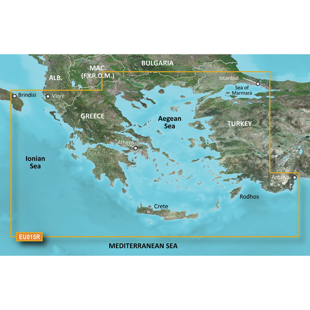 Garmin BlueChart g3 Vision HD - VEU015R - Aegean Sea /SD