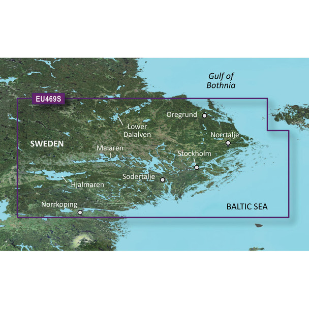 Garmin BlueChart g3 Vision HD - VEU469S - Stockholm /SD