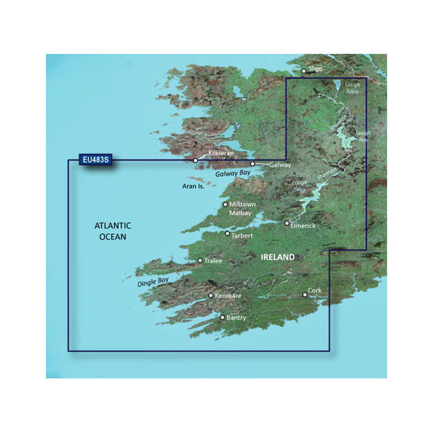 Garmin BlueChart g3 Vision HD - VEU483S - Galway Bay to Cork - microSD/SD