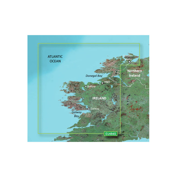 Garmin BlueChart g3 Vision HD - VEU484S - Ireland North-West - microSD/SD