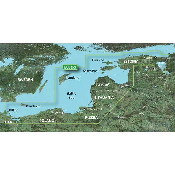 Garmin BlueChart g3 Vision HD - VEU505S - Baltic Sea, East Coast - microSD/SD