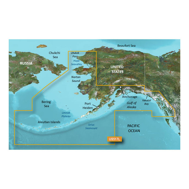 Garmin BlueChart g3 Vision HD - VUS517L - Alaska South - microSD/SD