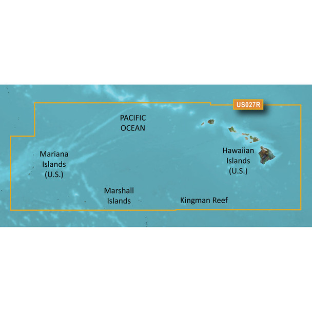 Garmin BlueChart g3 HD - HXUS027R - Hawaiian Islands - Mariana Islands - microSD/SD