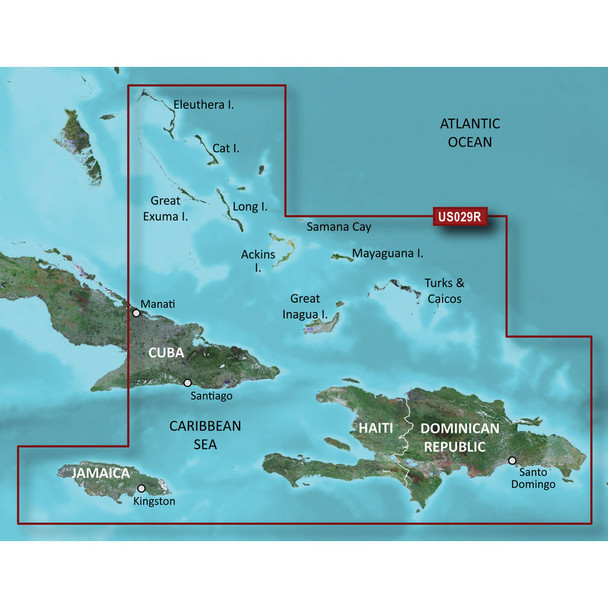 Garmin BlueChart g3 HD - HXUS029R - Southern Bahamas - microSD/SD