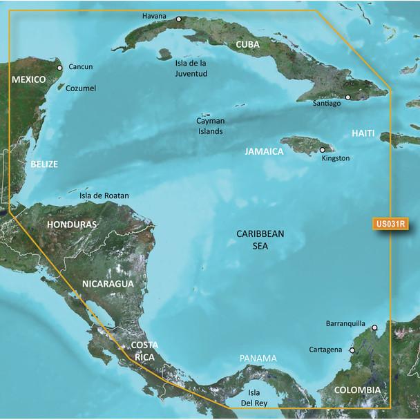 Garmin BlueChart g2 HD - HXUS031R - Southwest Caribbean - microSD/SD
