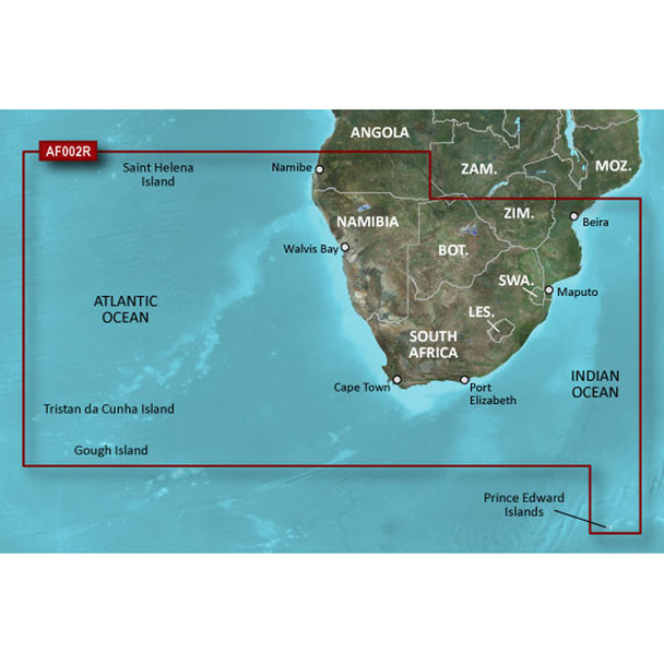 Garmin BlueChart g2 HD - HXAF002R - South Africa - microSD/SD