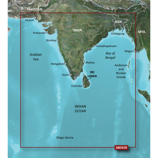 Garmin BlueChart g2 HD - HXAW003R - Indian Subcontinent - microSD/SD