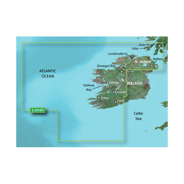 Garmin BlueChart g3 HD - HEU005R - Ireland, West Coast - microSD/SD