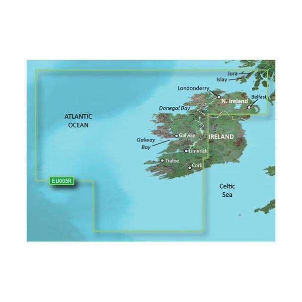Garmin BlueChart g3 HD - HEU005R - Ireland, West Coast - microSD/SD