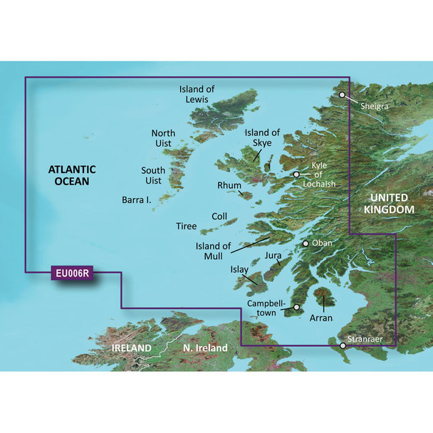Garmin BlueChart g3 HD - HXEU006R - Scotland West Coast - microSD/SD