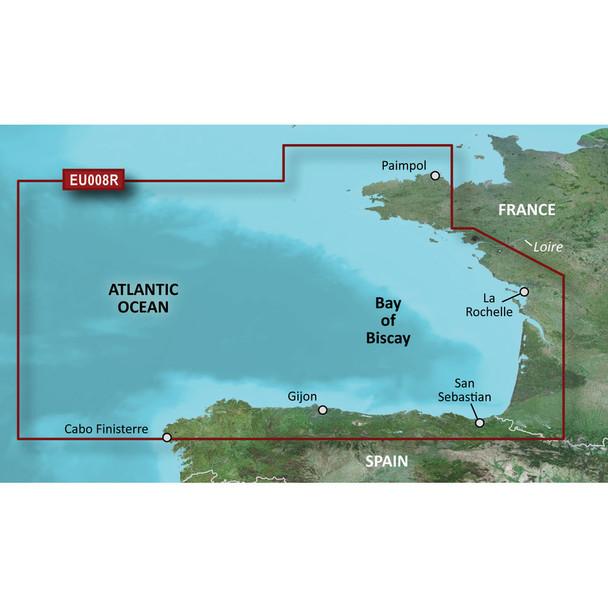 Garmin BlueChart g3 HD - HXEU008R - Bay of Biscay - microSD/SD