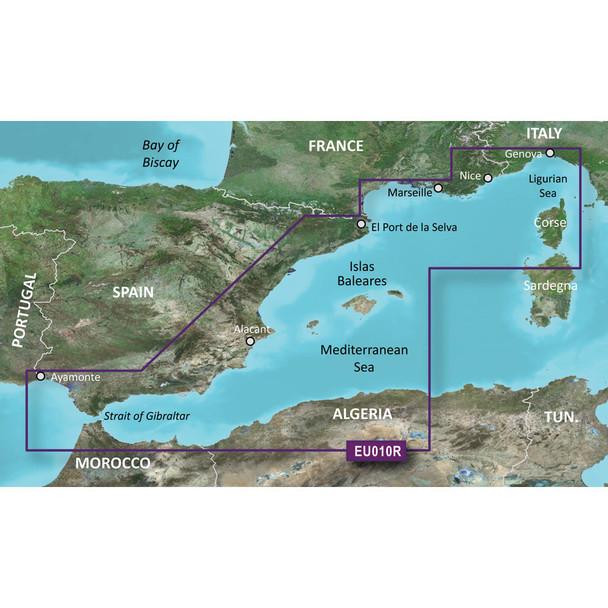 Garmin BlueChart g3 HD - HXEU010R - Spain Mediterranean Coast - microSD/SD