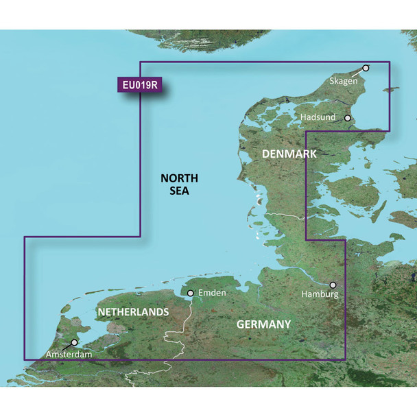 Garmin BlueChart g3 HD - HXEU019R - Alborg to Amsterdam - microSD/SD