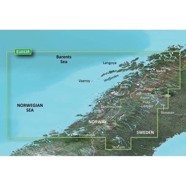 Garmin BlueChart g3 HD - HXEU053R - Trondheim - Tromso - microSD/SD