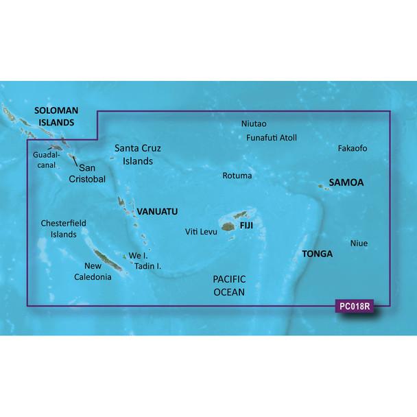 Garmin BlueChart g2 HD - HXPC018R - New Caledonia To Fiji - microSD/SD