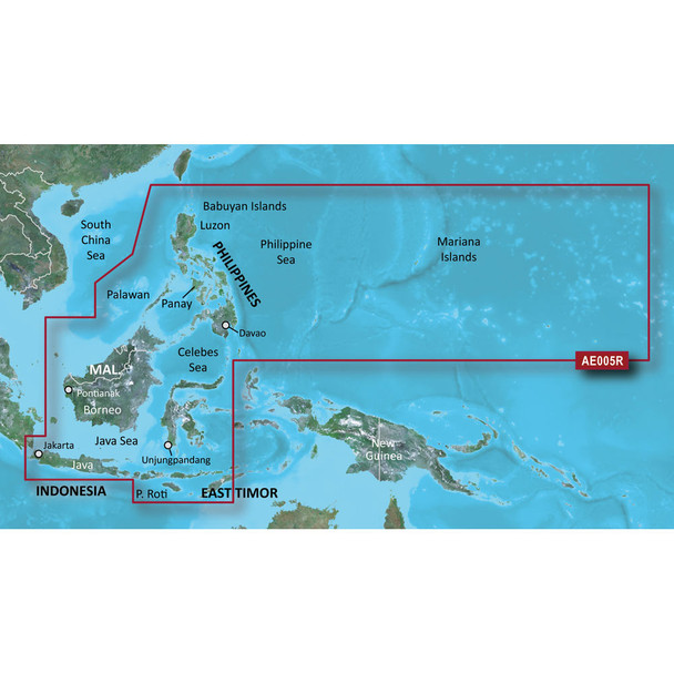 Garmin BlueChart g2 HD - HXAE005R - Phillippines - Java - Mariana Islands - microSD/SD