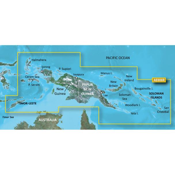Garmin BlueChart g2 HD - HXAE006R - Timor Leste/New Guinea - microSD/SD
