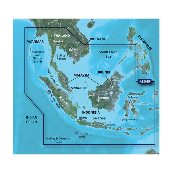 Garmin BlueChart g2 HD - HXAE009R - Singapore / Malaysia / Indonesia - microSD / SD
