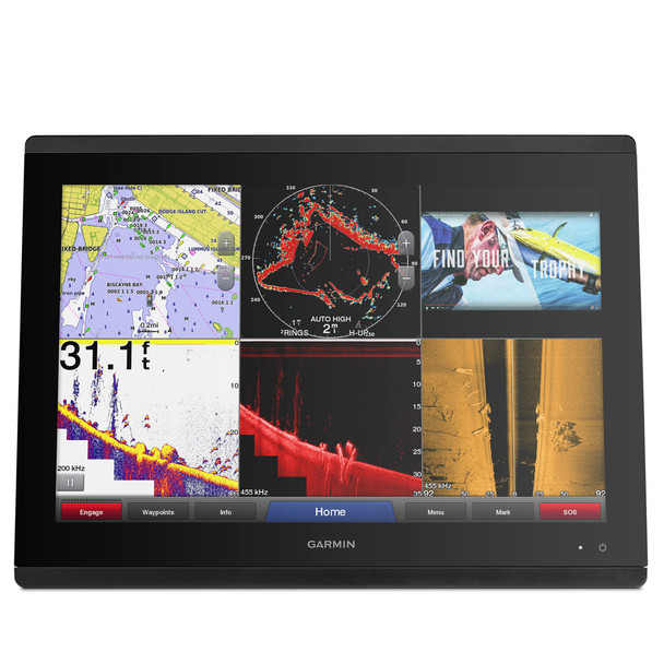 "Garmin GPSMAP 8624 MFD - Preloaded U.S. Canada  g2 HD & U.S. LakeVü HD - 24"""