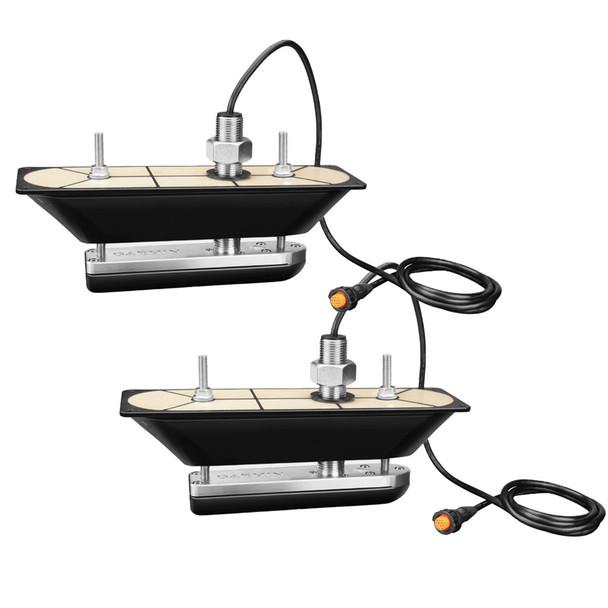 Garmin GT30-THP SS Thru-Hull Pair DownVü/SideVü Scanning Transducer w/Temp f/Hull Deadrises 5-25