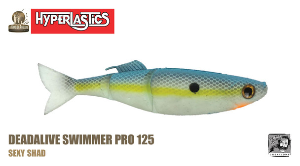 """A Band of Anglers HYPERLASTICS™ DEADALIVE™ Pro5"""" - Swimmer Pro 123, Sexy Shad"""