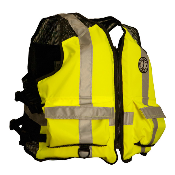 Mustang High Visibility Industrial Mesh Vest - L/XL - Yellow/Black
