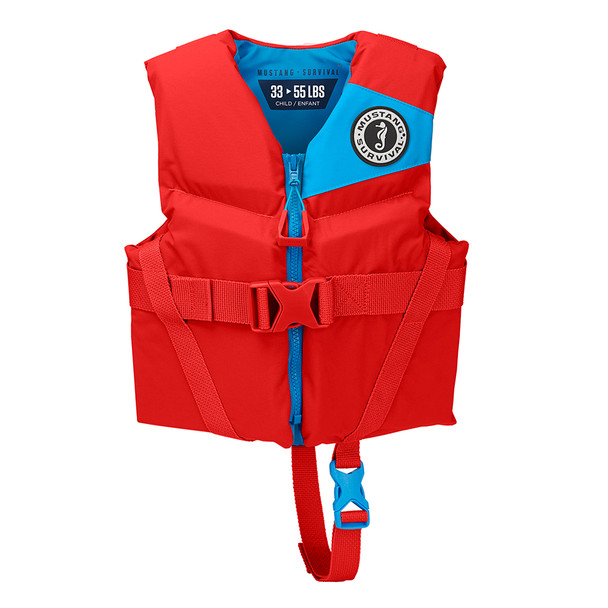 Mustang Rev Child Foam Vest - 33-55lbs - Imperial Red