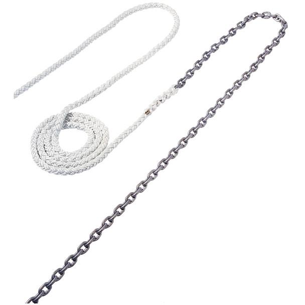 "Maxwell Anchor Rode - 20'-5/16"" Chain to 200'-5/8"" Nylon Brait"