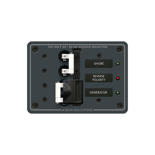 Blue Sea 8032 AC Toggle Source Selector 120V AC - 30AMP - White Switches