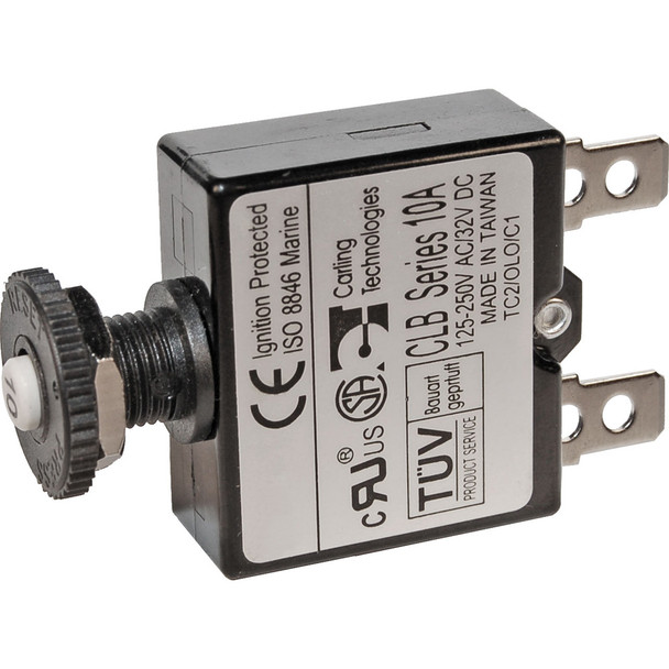 Blue Sea 7053 7A Push Button Thermal with Quick Connect Terminals