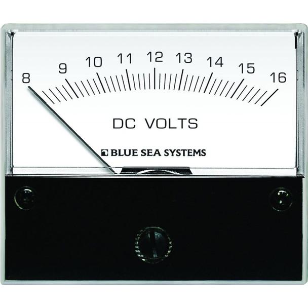 "Blue Sea 8003 DC Analog Voltmeter - 2-3/4"" Face, 8-16 Volts DC"