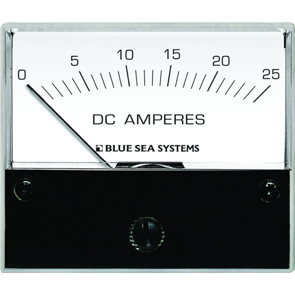 "Blue Sea 8005 DC Analog Ammeter - 2-3/4"" Face, 0-25 Amperes DC"