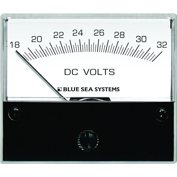 "Blue Sea 8240 DC Analog Voltmeter - 2-3/4"" Face, 18-32 Volts DC"