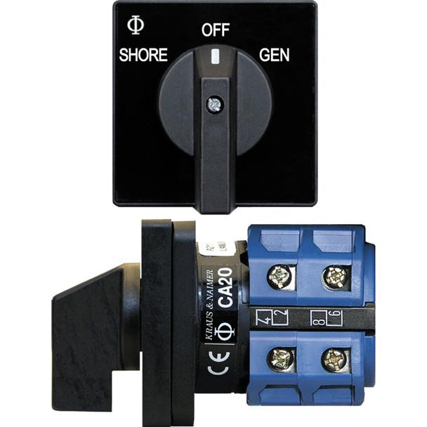 Blue Sea 9009 Switch, AC 120VAC 32A OFF +2 Position