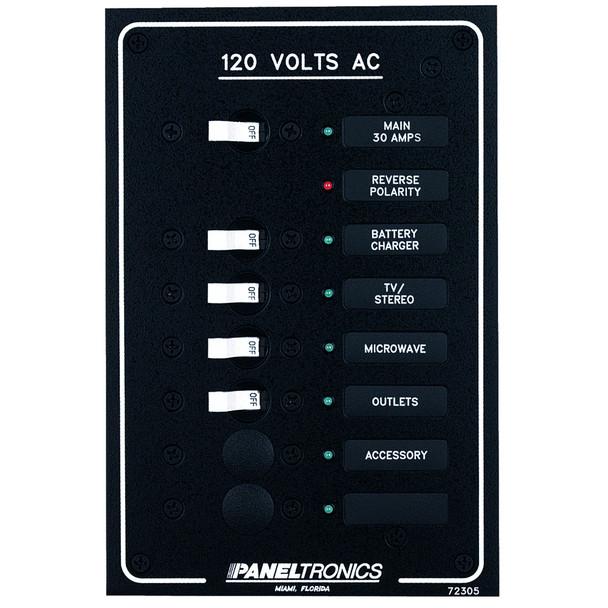 Paneltronics Standard AC 6 Position Breaker Panel & Main w/LEDs