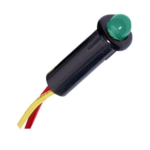 "Paneltronics LED Indicator Light - Green - 12-14 VDC - 1/4"""