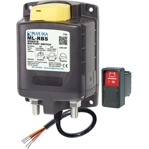 Blue Sea  7700 ML-Series Remote Battery Switch w/Manual Control 12VDC