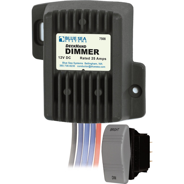Blue Sea 7508 DeckHand Dimmer - 25 Amp/12V